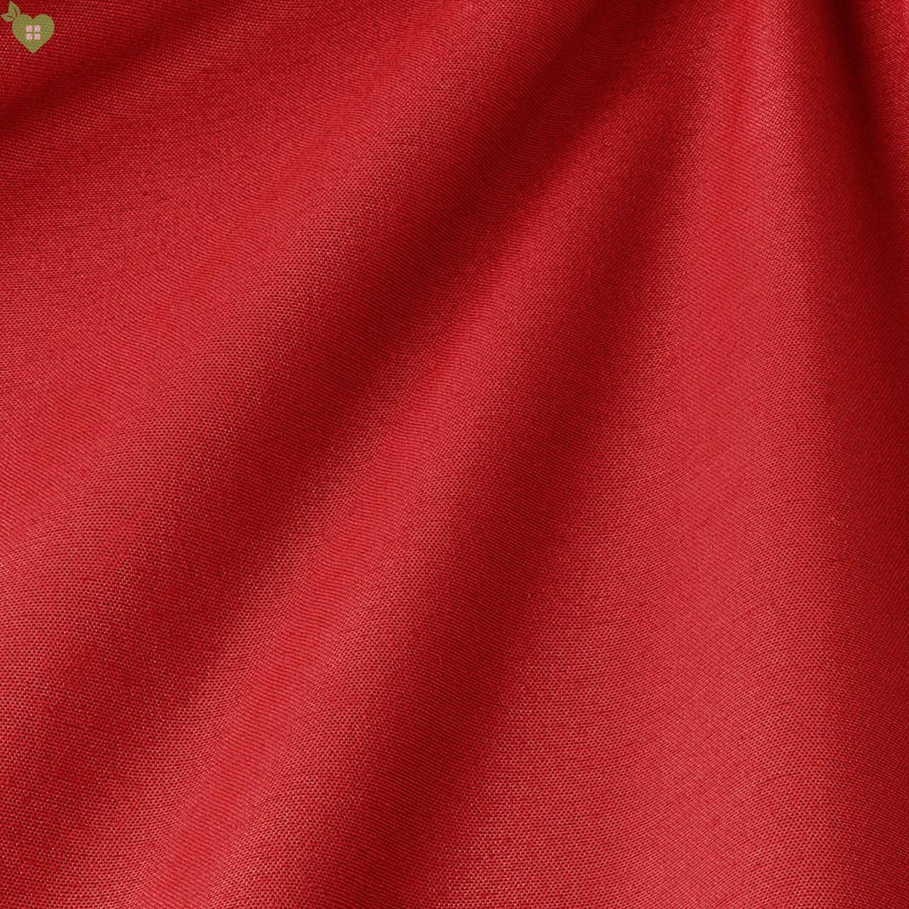 Однотонна люмінесцентно декоративна тканина-червоного кольору Іспанія 82755v59