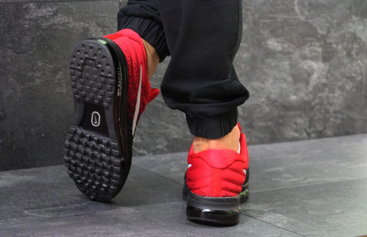 cde3bc22 Мужские кроссовки Nike 7072 красный с черным - Интернет-магазин