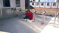 Подготовка турникета трипода для установки на открытом воздухе, без навесов