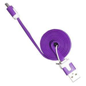 Кабель Micro USB - USB лапша (1м) фиолетовый