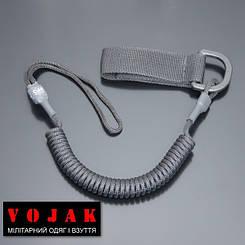 Страховочный шнур комбинированный с D-кольцом (черный)