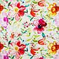 Ткань для штор с крупными яркими разноцветными цветами хлопок 82806v1, фото 3