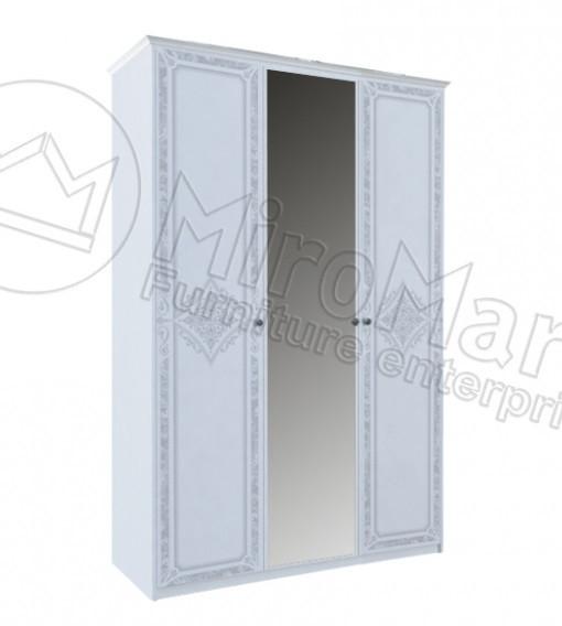 """Шкаф """"Луиза 3 дв"""" Белый глянец ТМ """"Миро марк"""", фото 1"""