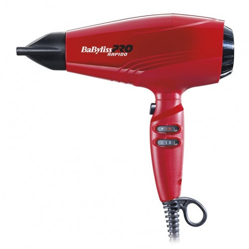 Фен для волос BaByliss PRO BAB7000IRE Rapido Red