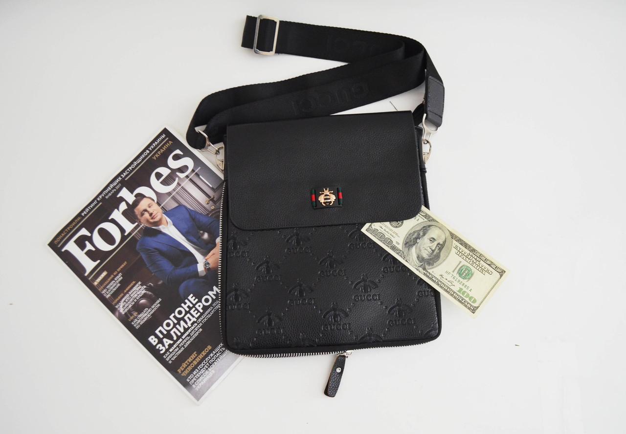 2e6ead1fa0fe Мужская сумка Gucci(Гуччи) через плечо, брендовая копия - Інтернет магазін