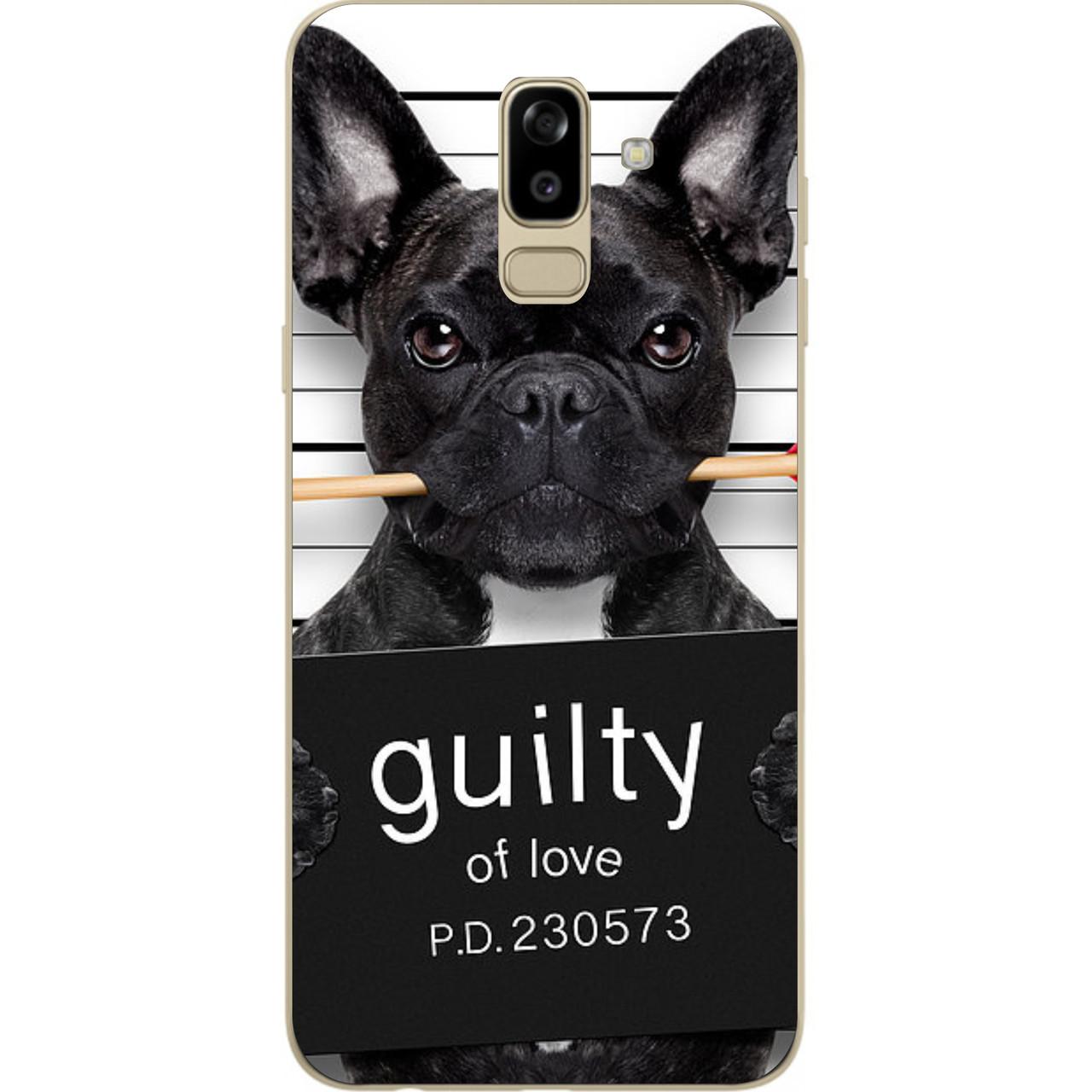 Силиконовый чехол с рисунком для Samsung J810F Galaxy J8 2018 с картинкой Собака в розыске