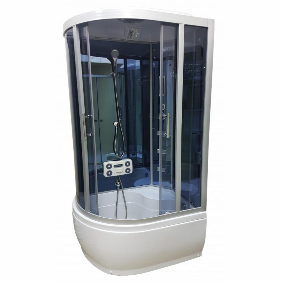 Гидромассажный бокс Atlantis 110х80 AKL 1110B R, тонированное стекло
