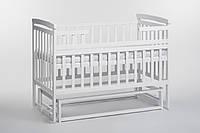 Кроватка-трансформер детская белая без ящика