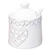 Сахарница Сердца, керамика, в упаковке 4шт. (006AS)