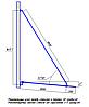 ODF-03-02-01-L1800 Ванта для козирка з скла, довжиною 1800 мм, фото 3