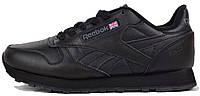 Мужские кроссовки Reebok Classic Black (рибок классик, черные)