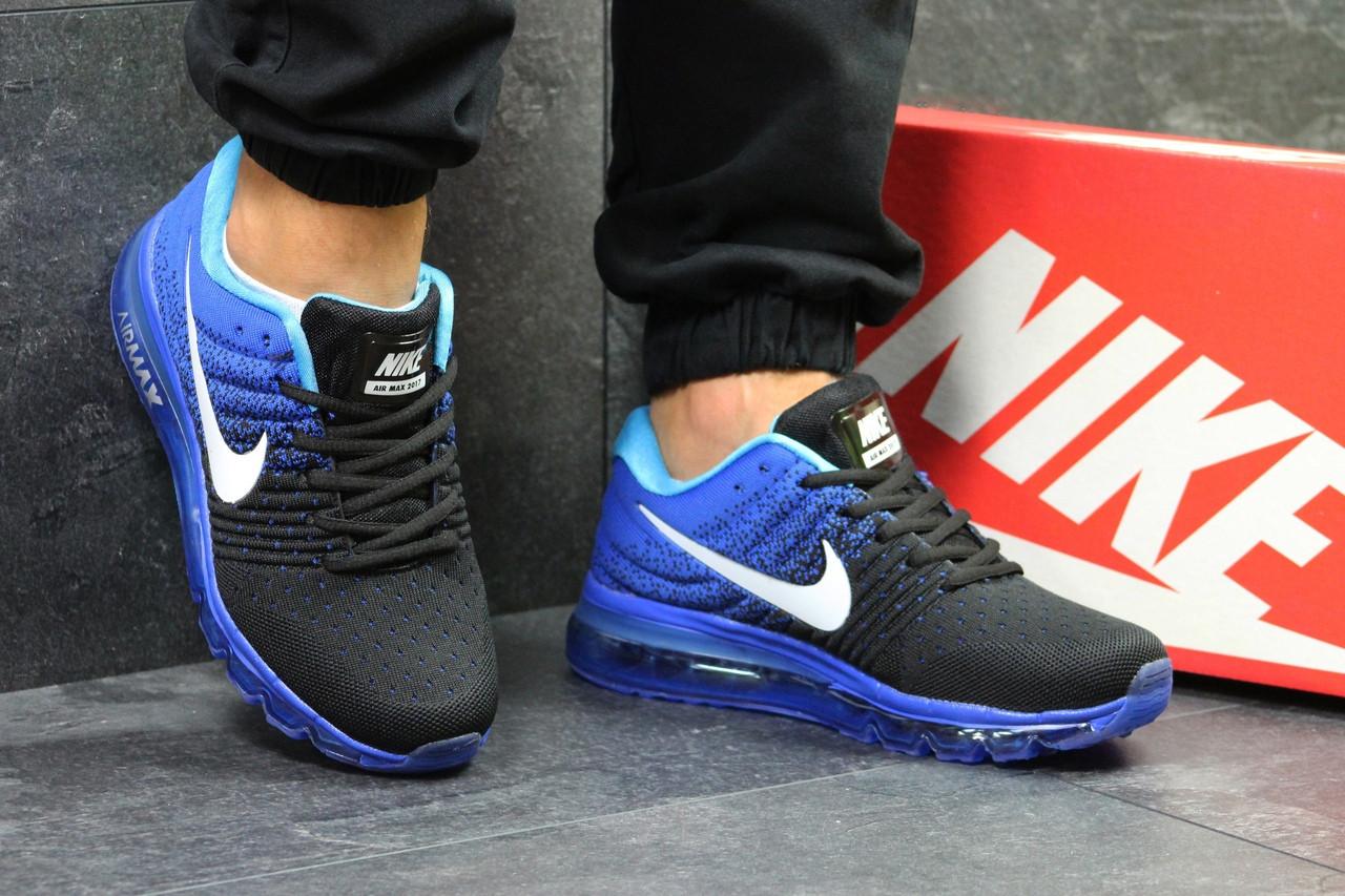 0ff6633c Мужские кроссовки Nike Air Max 2017 (Сине-черные) - Интернет-магазин