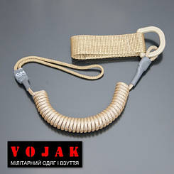Страховочный шнур комбинированный с D-кольцом (койот)