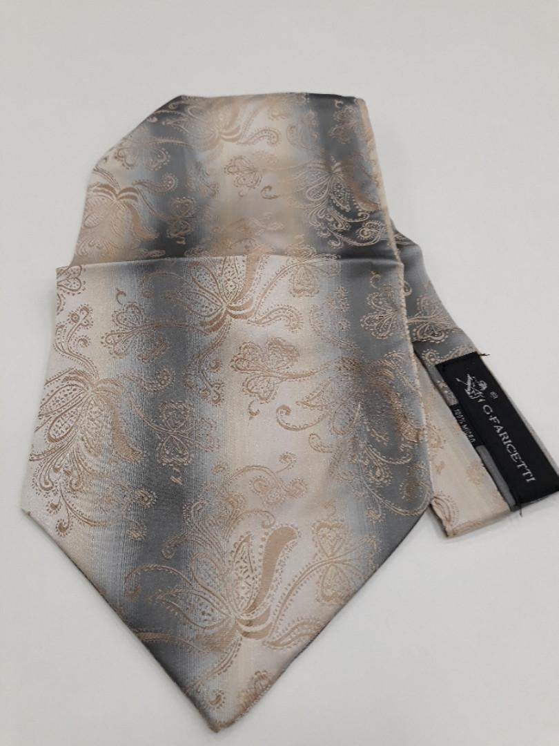 Мужской шейный платок серо-беж