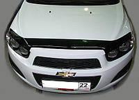Дефлектор капота (мухобойка) Chevrolet Aveo T300 2011-2015, SIM, SCHAVE1212