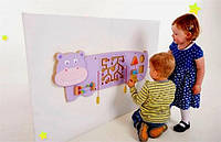 Настенная игрушка бизиборд Бегемот Viga Toys 50470, фото 1