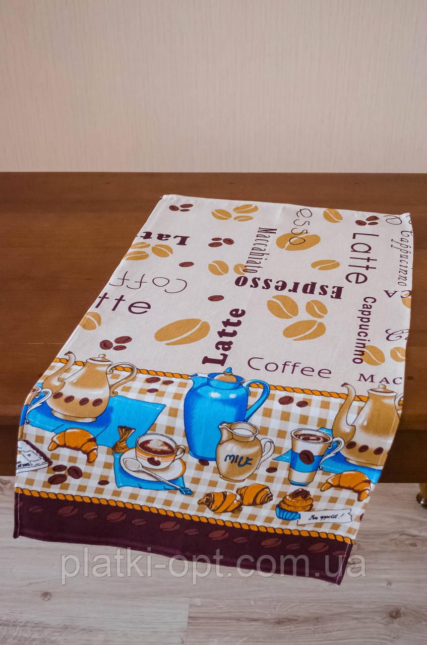 """Полотенце льняное большое """"Кофе (светлый)"""""""