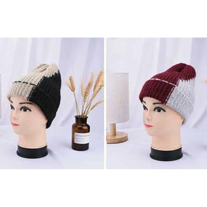 вязаная шапка двухцветная продажа цена в ровно шапки от Promsnab