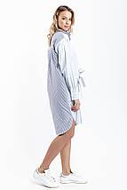 """Стильное платье-рубашка в полоску """"ПЕРЕКРУТ"""" с длинным рукавом (2 цвета), фото 2"""