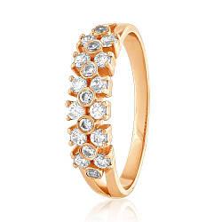 "Кольцо из красного золота со вставкой цирконий ""Маренга"", КД0531 Eurogold"