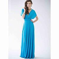 Женское Вечернее Платье в пол Трансформер Голубой, S