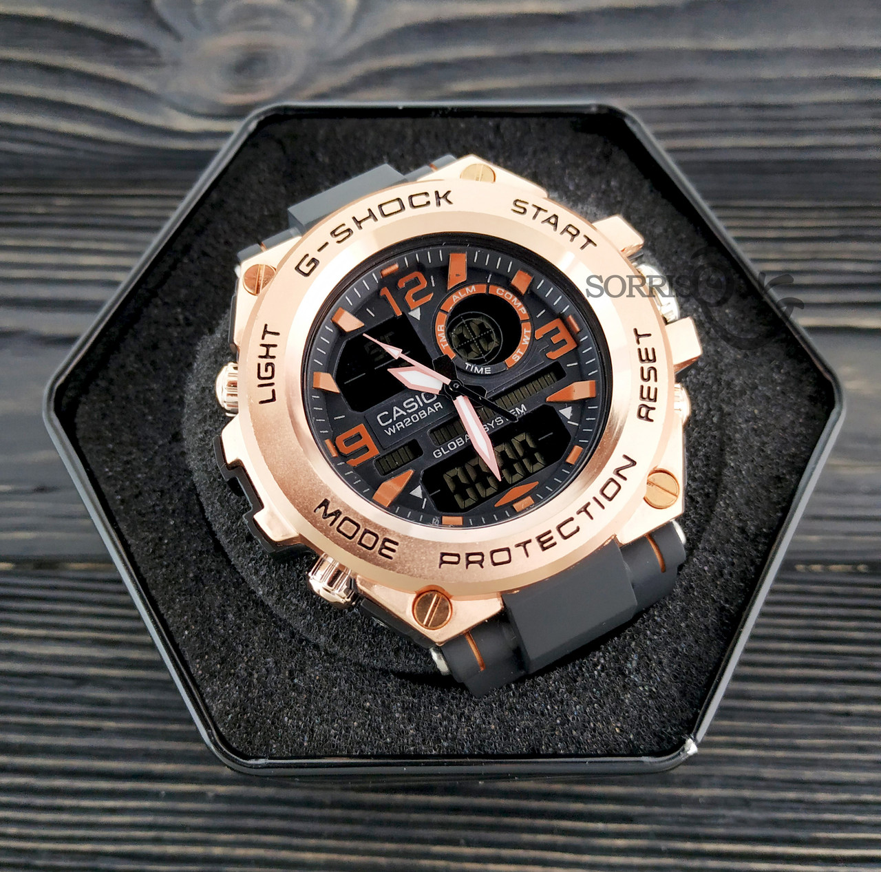 Мужские наручные часы  Casio G-Shock  GLG-1004 Бронза Копия