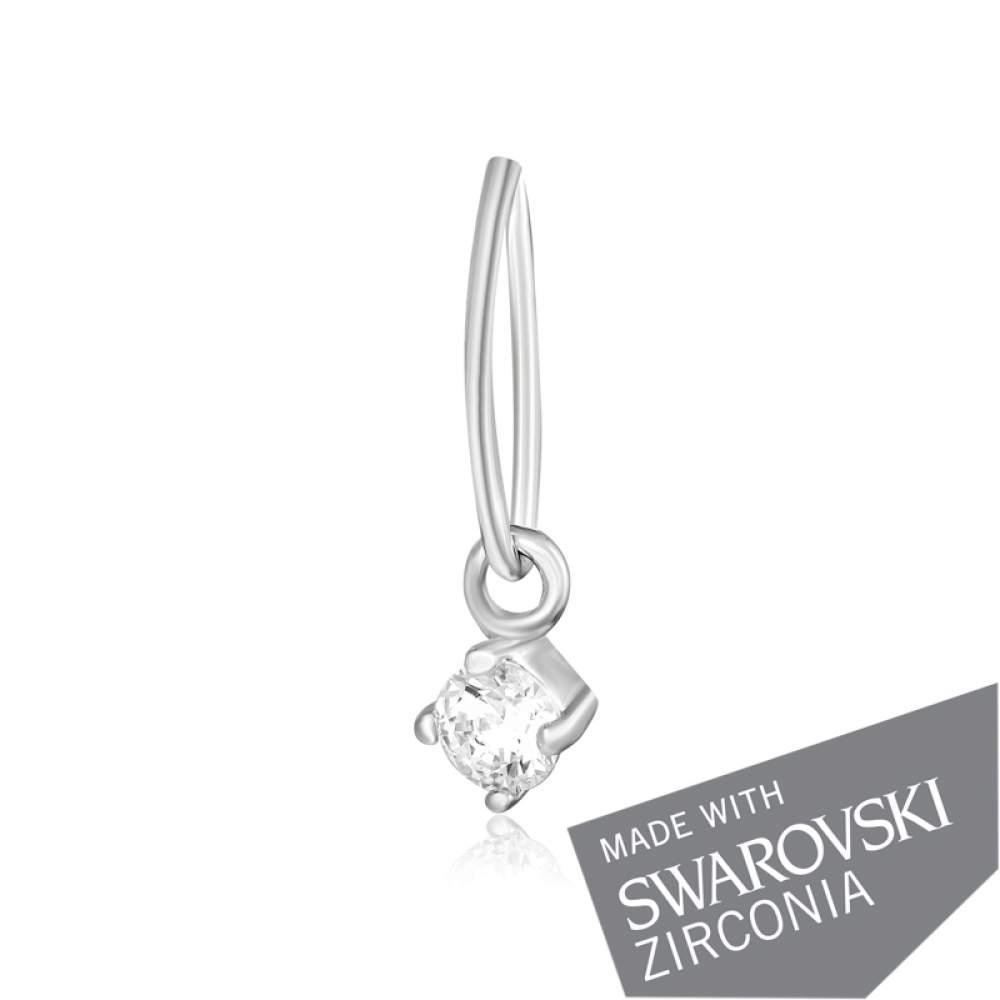 Серебряная подвеска Silvex925 с цирконием Swarovski Zirconia П2С/330 Eurogold
