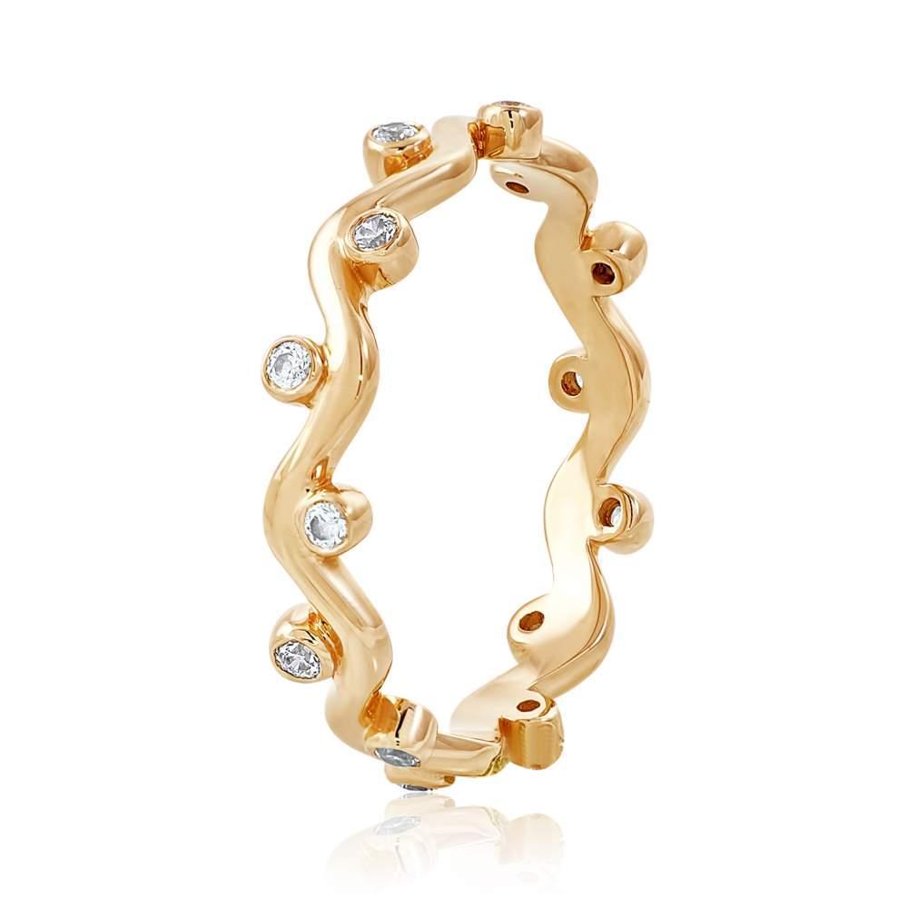 "Кольцо золотое с камнем SWAROVSKI Zirconia ""Корона"", КД4141SW Eurogold"