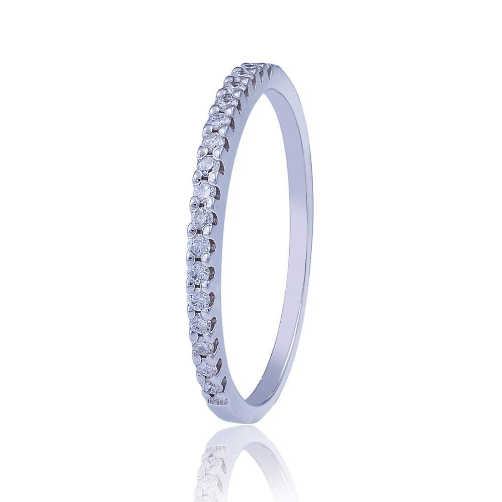 """Кольцо-дорожка с бриллиантами """"Бриллиантовый венец"""", белое золото, КД7455/1 Eurogold"""