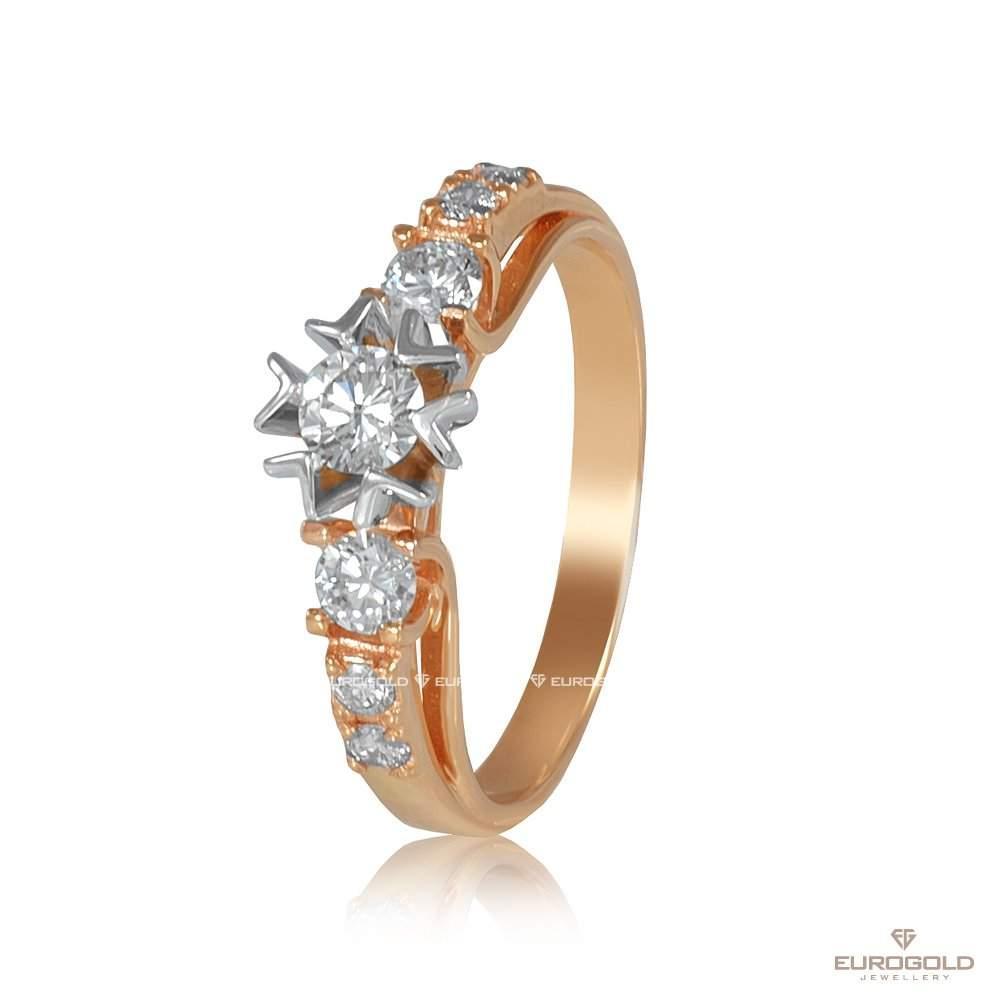 "Золотое кольцо с бриллиантами ""Диво"",  КД7540А edem"