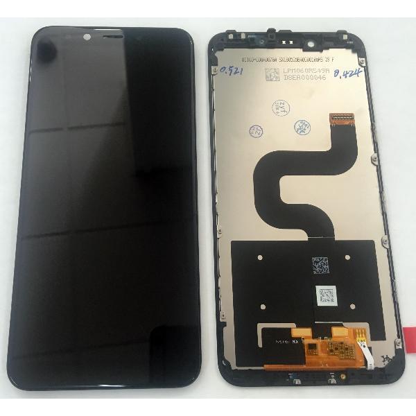 Дисплей Xiaomi Mi A2 / Mi6x модуль в сборе с тачскрином, черный, с рамкой