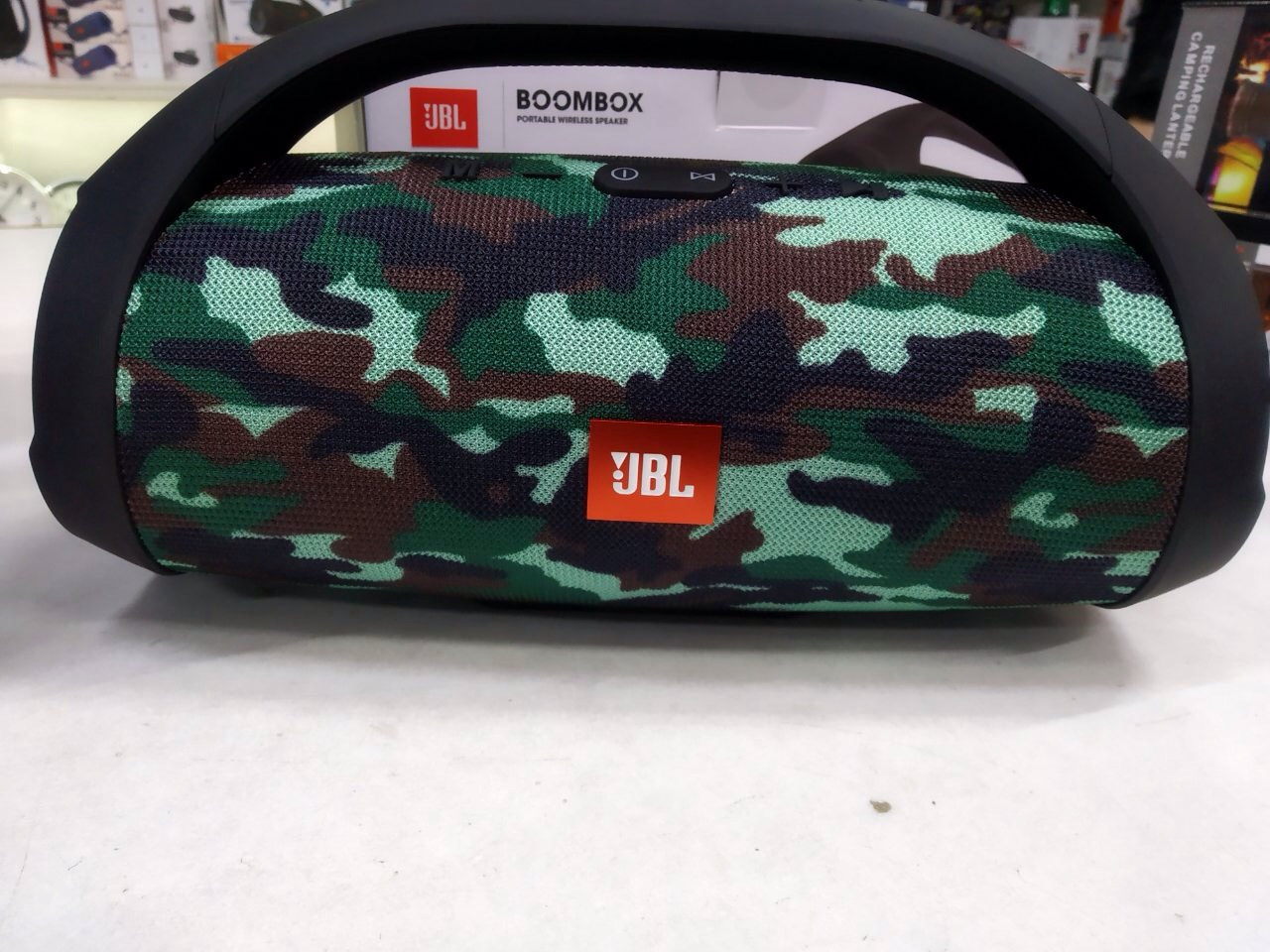 Колонка JBL BOOMBOX PORTABLE WIRELES SPEKE MP3 FM USB (качественная копия JBL) камуфляж