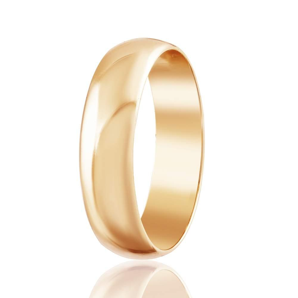 Золотое обручальное кольцо, красное золото, КО050З Eurogold