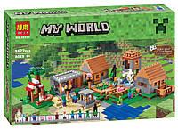 """Конструктор Bela Майнкрафт 10531 """" Деревня"""" 1622 дет. (аналог LEGO Minecraft 21128)"""
