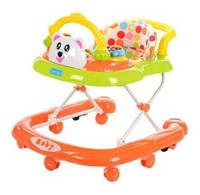 Детские ходунки M 2445 с игровой панелью и ручкой для малыша