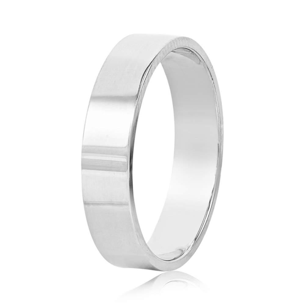 Золотое обручальное кольцо, белое золото, КОА136/1 Eurogold