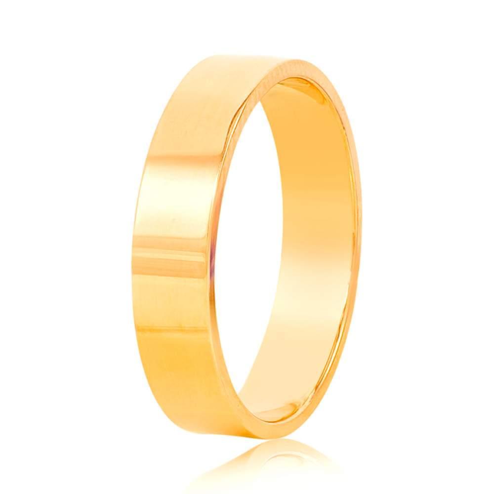 Золотое обручальное кольцо из желтого золота, КОА136/2 Eurogold