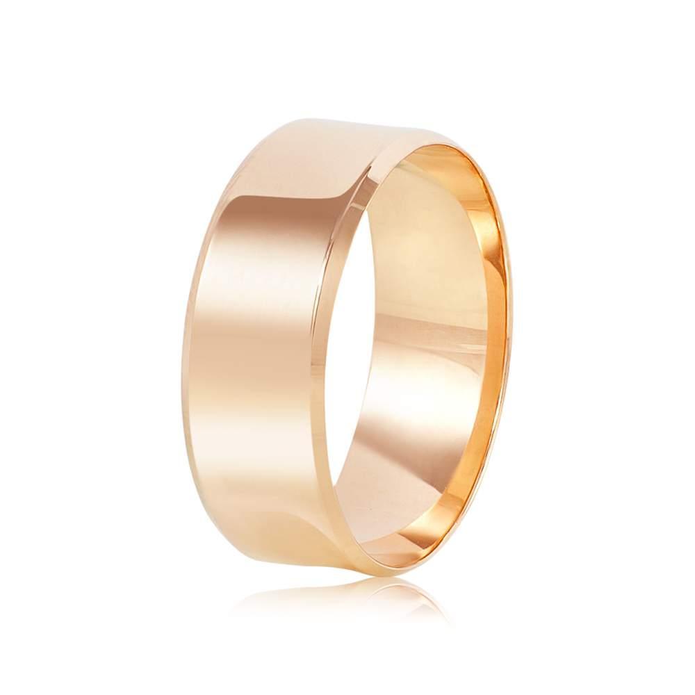Золотое  обручальное кольцо, красное золото, КОА138 Eurogold