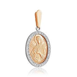 Золотая подвеска без вставок, красное золото, П0148/3 Eurogold