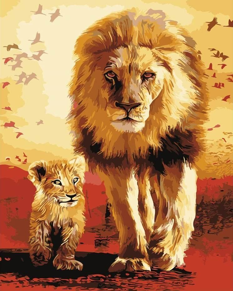Картина по номерам Отец и сын 40 х 50 см (BK-GX3008)