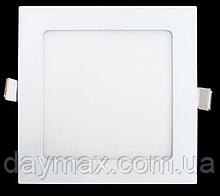 Світильник світлодіодний стельовий врізний led ,точковий , квадрат 9w ,вбудована панель LED LIGHT