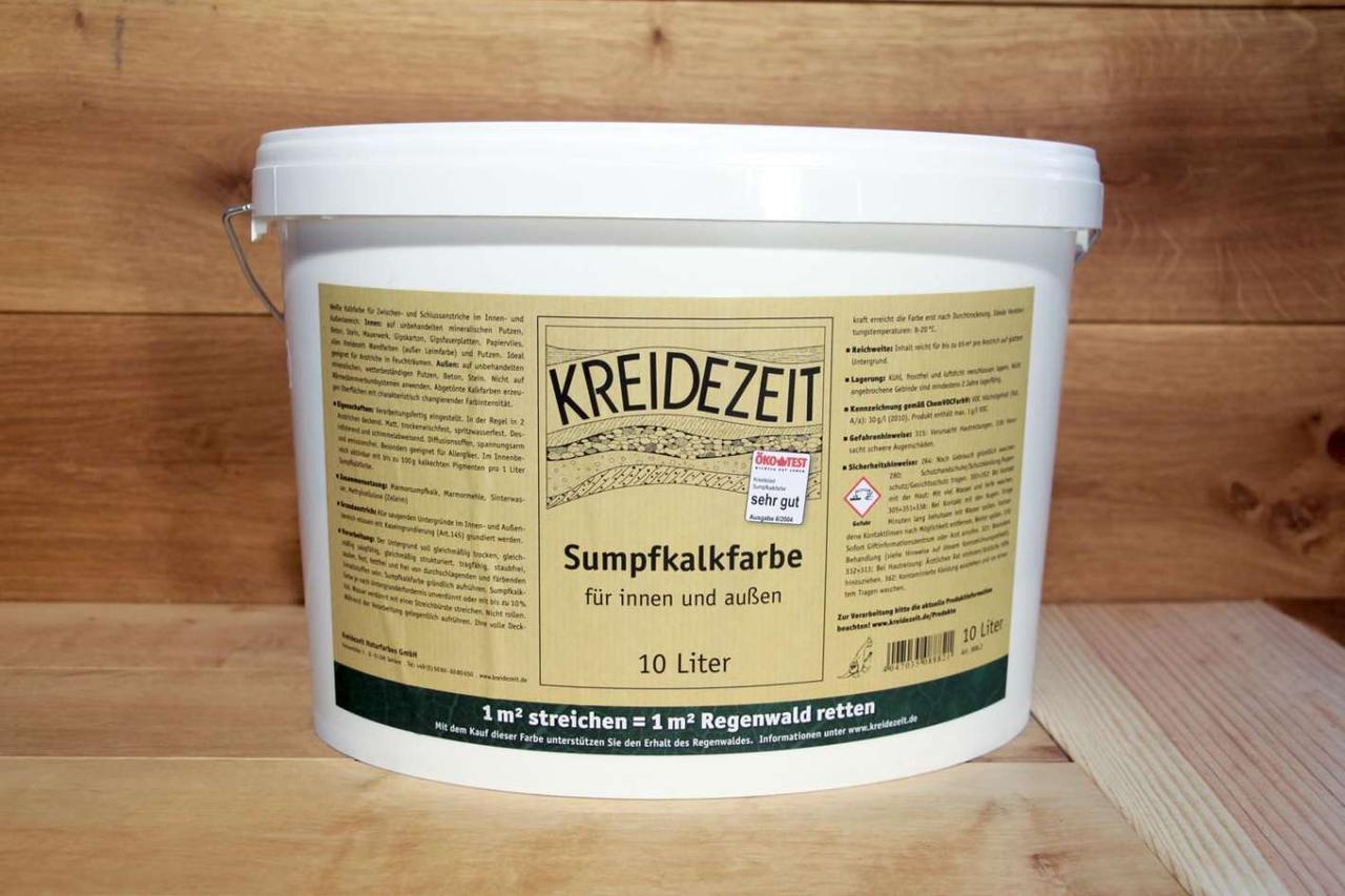 Натуральная  известковая краска Kreidezeit  Sumpfkalkfarbe  10 l
