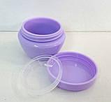 Баночка 10 мл пластикова Тіффані, фіолетова, фото 2
