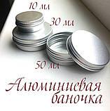 Алюмінієва 15 мл баночка для бальзаму, крему, мазі, фото 3