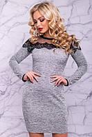 Платье Дейзи ангора софт кружево 42 44 46 48 50 52 54  Р, фото 1