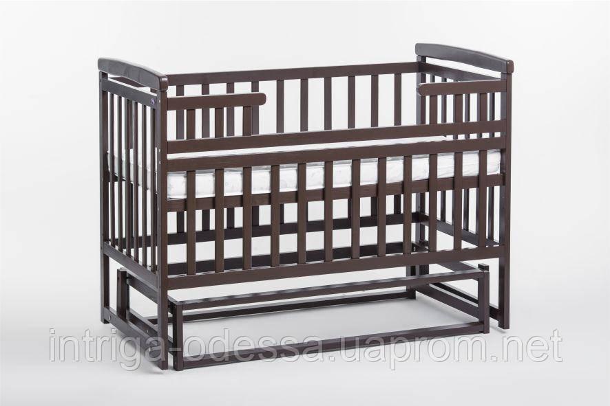 Кроватка-трансформер детская без ящика Орех