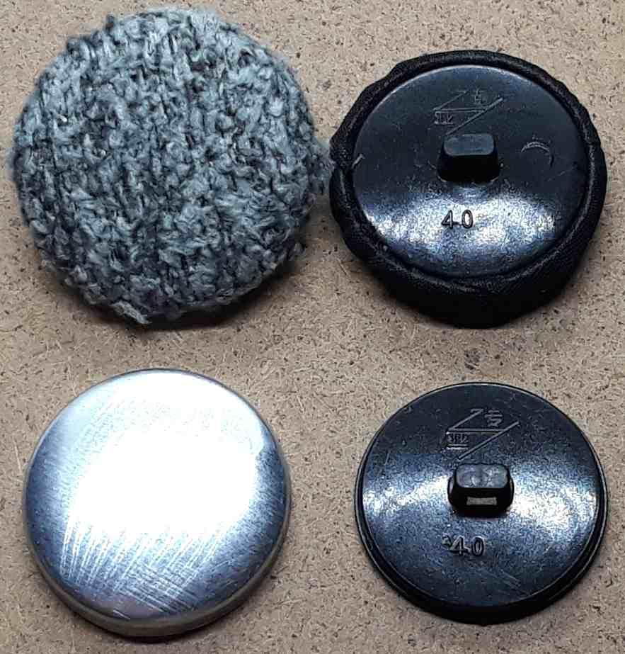 Пуговица для обтягивания тканью 24 мм № 40 Черный