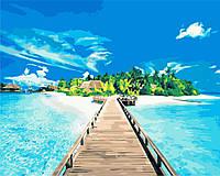 Картина по номерам Лазурный пляж 40 х 50 см (BK-GX8114)