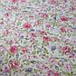 Ткань хлопок 100% белая с розовыми и сиреневыми цветами Корея отрез 40 на 50 см, фото 3