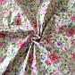 Ткань хлопок 100% белая с розовыми и сиреневыми цветами Корея отрез 40 на 50 см, фото 5